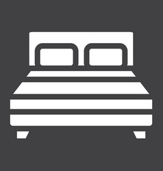 double bed solid icon furniture and interior vector image vector image