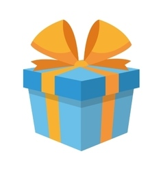 gift box with bow icon vector image