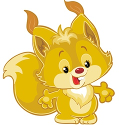little squirrel vector image