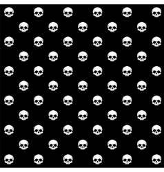 seamless with skulls vector image vector image
