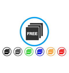 free items rounded icon vector image vector image