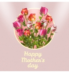Happy Mothers Day Card EPS 10 vector image