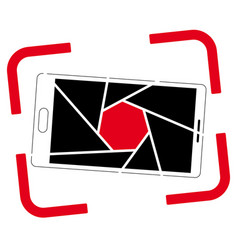 icon or logo with a picture of a smartphone vector image