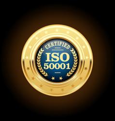 Iso 50001 standard medal - energy management vector
