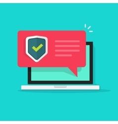 laptop internet security concept vector image