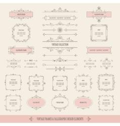 Vintage frames borders labels dividers big set vector image vector image