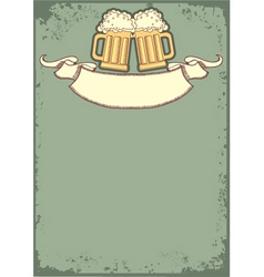 beer festival background vector image