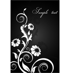 classical floral background vector image