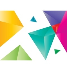 colored triangles abstract vector image