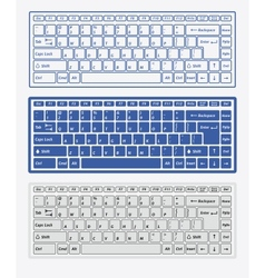 Computer keyboards vector image vector image