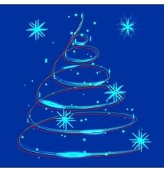 glowing Christmas light vector image