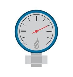 measuring gauge icon image vector image vector image