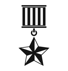 Medal star icon simple style vector
