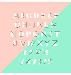 Modern trendy geometric font vector image