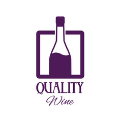 quality wine bottle image poster vector image