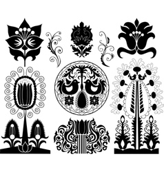 Set of decorative patterns vector image vector image