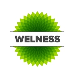 Wellness - logo template vector image vector image