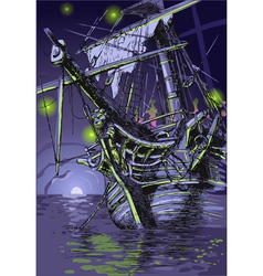 Adventure Island - the Ghost Ship vector image