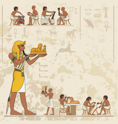 Ancient egypt scene ancient egypt banner vector
