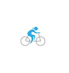 athlete ride bike and cycling for logo design vector image