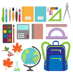back to school icon collection vector image