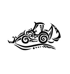 backhoe tribal tattoo vector image