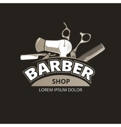 Barber shop vintage background vector