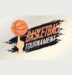 basketball tournament banner flyer vector image