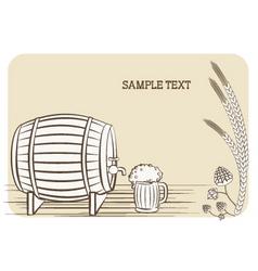 beer keg vector image