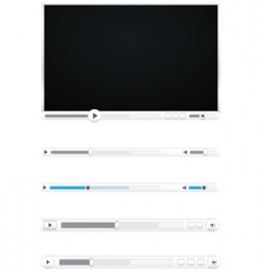 Browser video players vector