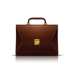 business Briefcase realistic icon isolated on vector image