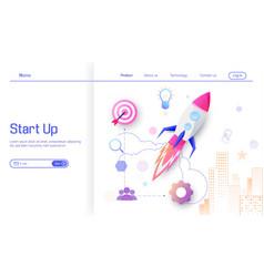 business start up modern flat design concept vector image