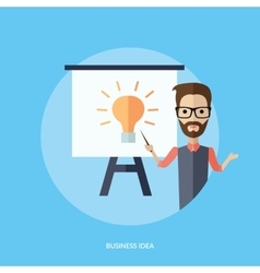 Businessman Presentation Business Idea vector image