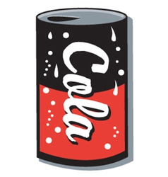 Can of cola vector