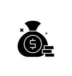 cash win black icon sign on isolated vector image