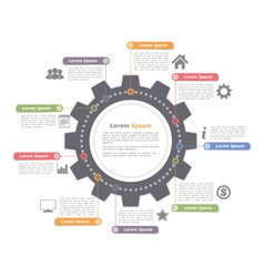 Circle Infographics with Gear vector