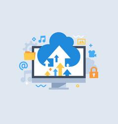Cloud storage download vector