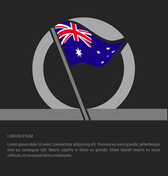 country flag with creative design vector image