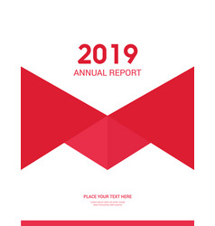 cover design for annual report business catalog vector image