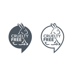 Cruelty free stamp - not tested on animals vector