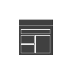 database server template icon element of vector image