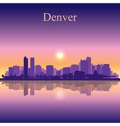 Denver city skyline silhouette background vector