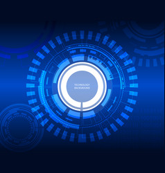 digital future technology background vector image