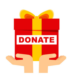 donate gift concept vector image