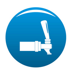 faucet icon blue vector image