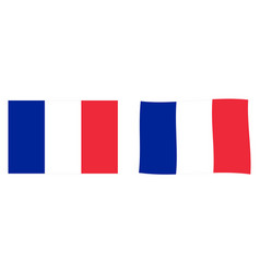 flag of france simple and slightly waving version vector image