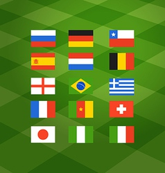 Flags of different national football teams vector