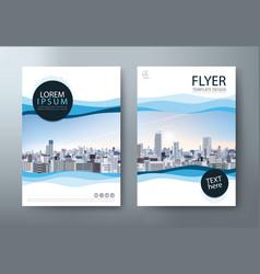 flyer design leaflet book cover template vector image