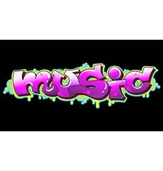 Graffiti Music Urban Art vector image