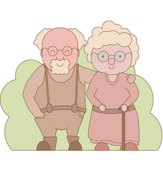 grandparents day happy grandparents vector image
